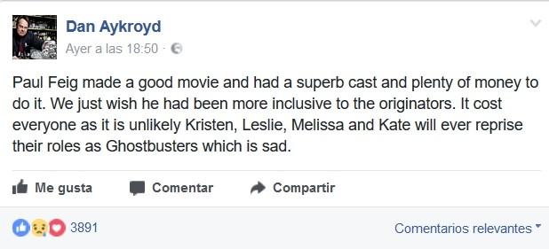 Dan Aykroyd en Facebook