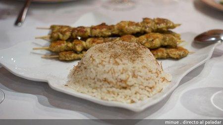 Restaurante sirio en valencia - brochetas