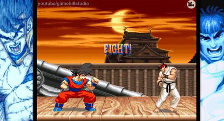 ¡Y no es M.U.G.E.N! Gokú acaba con todos los peleadores de Street Fighter II