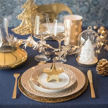 Mesa dorada Navidad