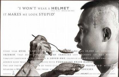 No usar el casco sí que es de estúpido