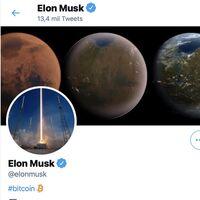 """Un cambio de Elon Musk en su bio de Twitter añadiendo """"#bitcoin"""" hace que el precio del Bitcoin se dispare un 20% en minutos"""