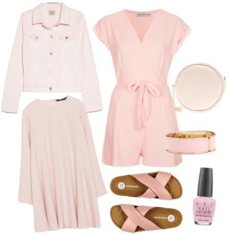 outfit en rosa bebe