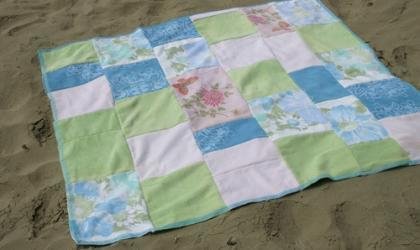 simple sparrow towel patchwork