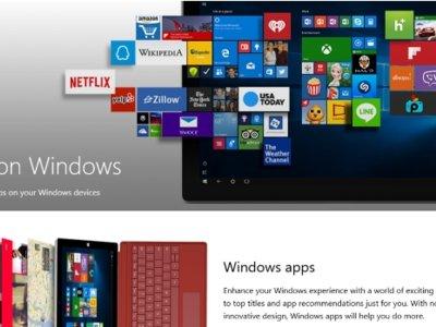 Ya podemos explorar la tienda de aplicaciones de Windows 10 desde el navegador web