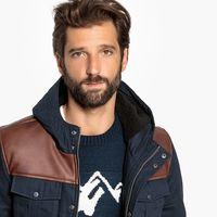 Esta chaqueta acolchada de dos materiales está en La Redoute al 30%