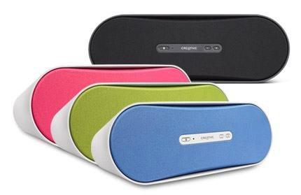 Nuevos altavoces bluetooth de Creative, en colores