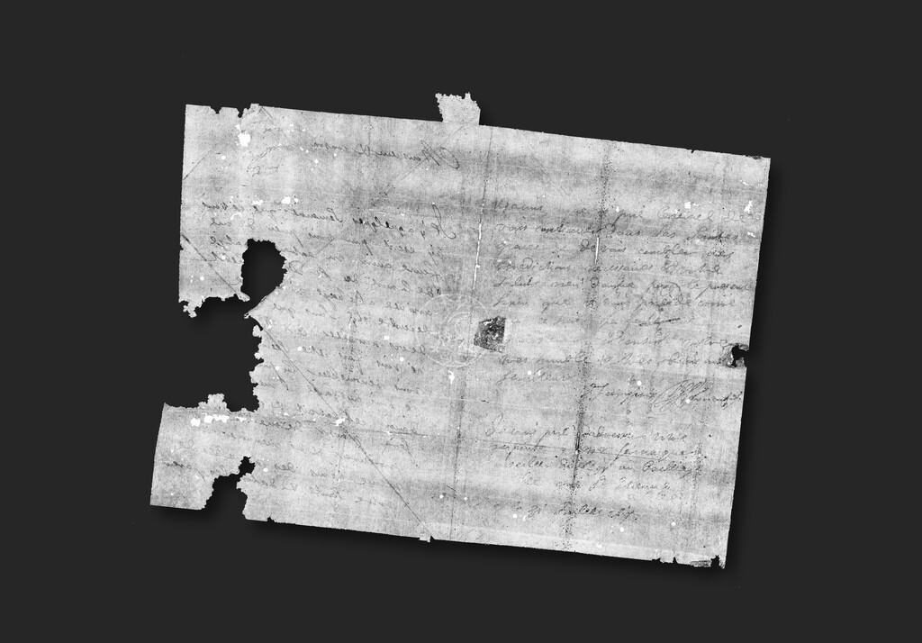 Un nuevo método de despliegue virtual y por rayos X permite leer cartas antiguas sin abrirlas para no dañarlas