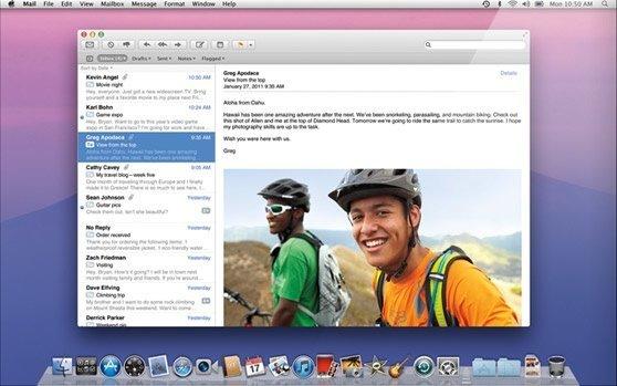 apple mac os x lion mail