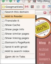 Googmarklets, directorio de bookmarklets de Google en nuestra barra de vínculos