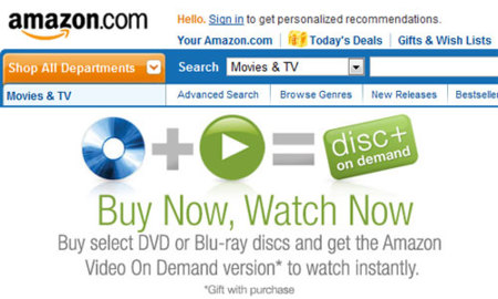 Amazon Disc+ On Demand, versión digital de las películas que compres