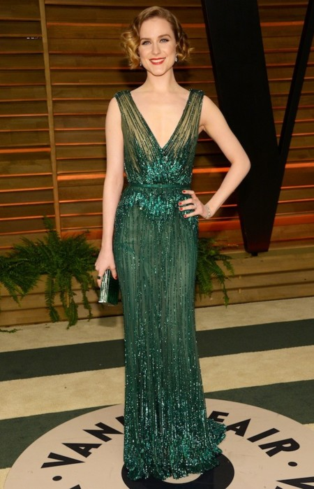 Evan Rachel Wood look vanity fair oscar 2014
