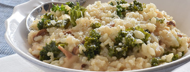 Risotto integral de kale y setas: receta con extra de fibra