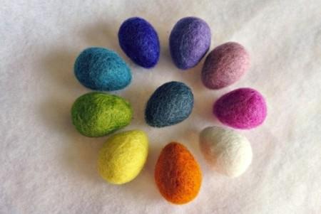 Huevos Pascua Fieltro