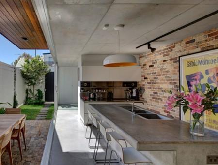 17 cocinas modernas con encimera de cemento Duchas modernas puerto rico