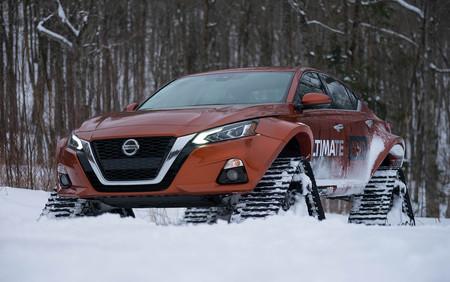 Nissan lo ha vuelto a hacer: esta bestia se llama Altima-te AWD Concept y la nieve es su reino