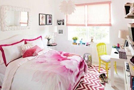 Puertas abiertas: un dormitorio adolescente en rosa