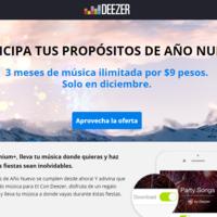 Deezer lanza oferta navideña: nueve pesos por tres meses de servicio