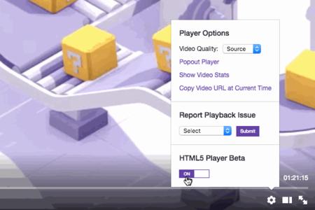 Twitch ya tiene una versión de prueba de su reproductor de vídeo en HTML5