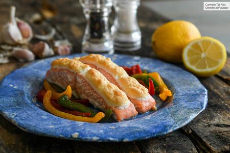 salmón al horno con un toque especial