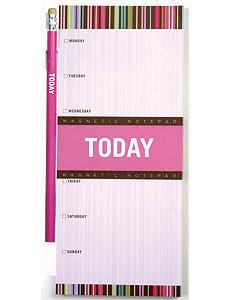 Libreta de notas magnética para el frigorífico