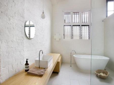El baño de la casa.