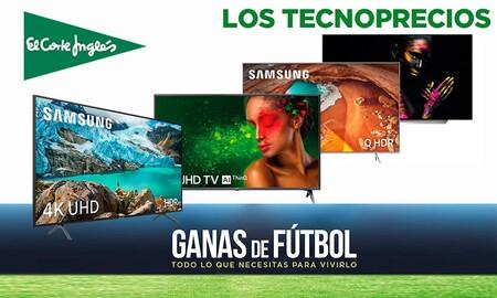 Disfruta a tope de la Eurocopa con los Tecnoprecios de El Corte Inglés y estas 8 smart TVs de LG, Samsung, Sony o Panasonic con bestiales rebajas