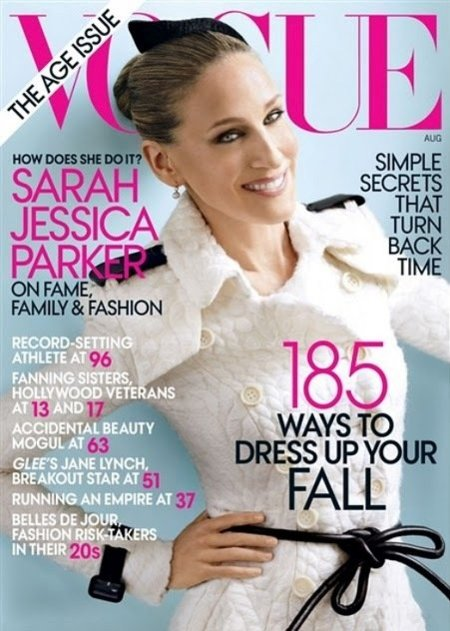 "A la espera del ""september issue"", el ""august issue"" de Vogue USA con SJP"