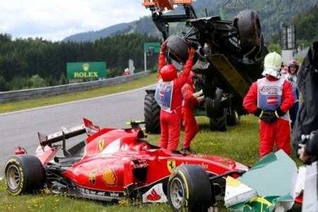 Accidente Raikkonen Alonso Gp Austria 2015