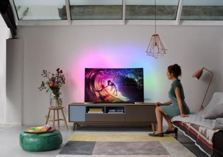 Televisor curvo 4K de Philips