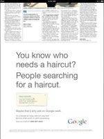Google se mofa de los anuncios en prensa en un anuncio de prensa