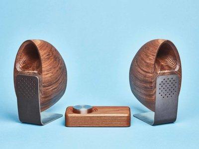 Grovemade Wood Speakers, altavoces de escritorio hechos de auténtica madera de arce o nogal