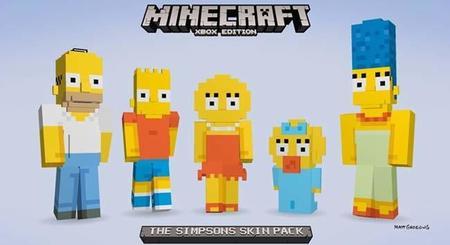 Minecraft se pone amarillo con el paquete de Los Simpsons