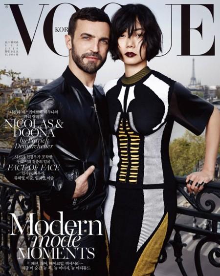 VogueKorea: Bae Doona y Nicolas Ghesquiere