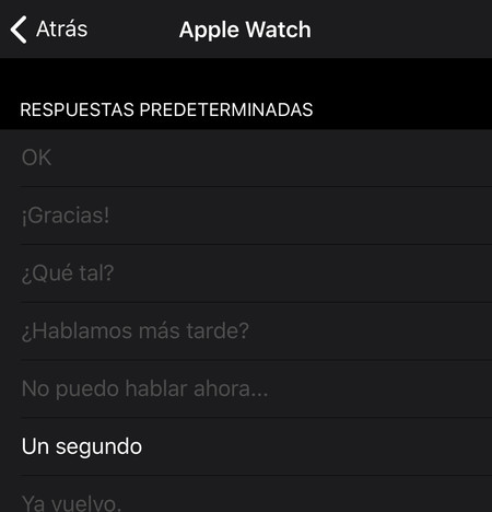 Respuestas Telegram Apple Watch