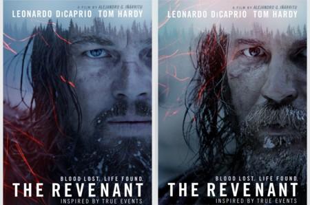 'El renacido (The Revenant)', nuevos carteles de la película con DiCaprio y Tom Hardy