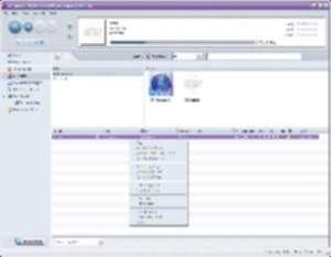 Yahoo! Music Engine 1.0.1.111 Beta, y iTunes en una esquina con el ojo morado...