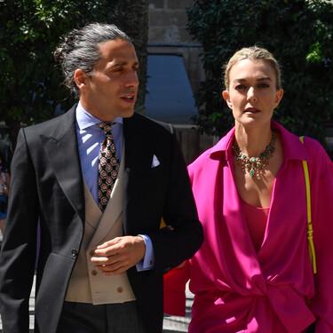 Marta Ortega y Amaia Salamanca lucen dos perfectos y coloridos looks de invitada a la boda de Carlos Cortina y Carla Vega-Penichet