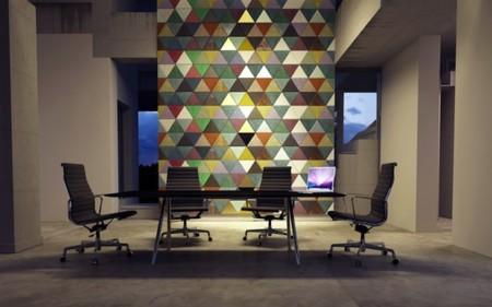 Impresionantes paredes en piel de color sorprenden este fin de semana en ICFF de New York