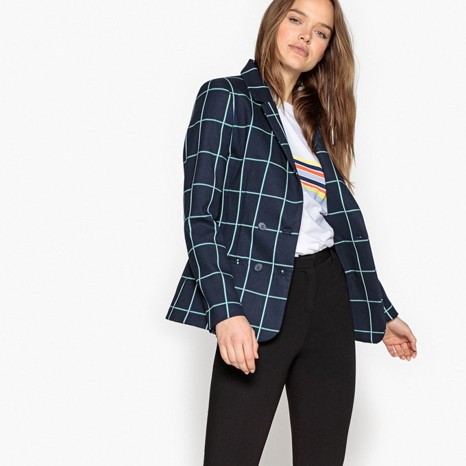 Blazer a cuadros de La Redoutte Collection