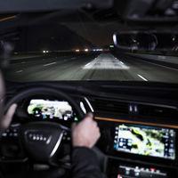 Con los Matrix LED Digital, Audi puede reeducar a los conductores para que mantengan la distancia de seguridad