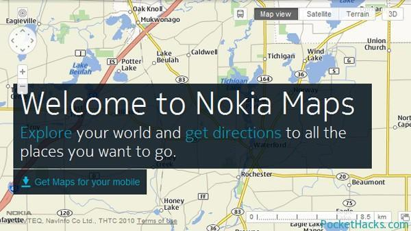 Nokia Maps en Amazon tablets