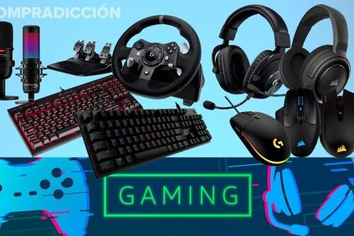 Ofertas en periféricos gaming en Amazon: 23 modelos de teclados, ratones, auriculares o micrófonos a los mejores precios