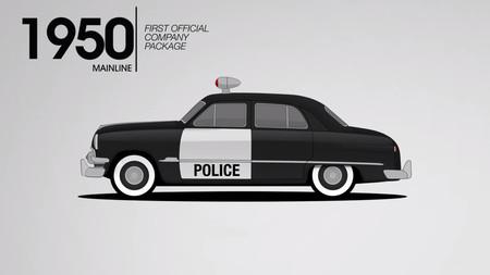 La historia de los coches de policía de Ford se puede resumir en sólo 79 segundos de vídeo