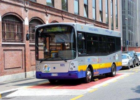 Autobús eléctrico en Génova