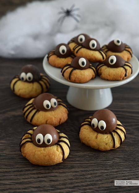galleta araña para Halloween
