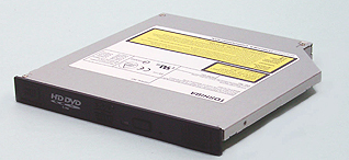Grabadora HD DVD delgada de toshiba