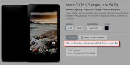 El Nexus 7 (2013) comienza a agotarse, ¿renovación a la vista?