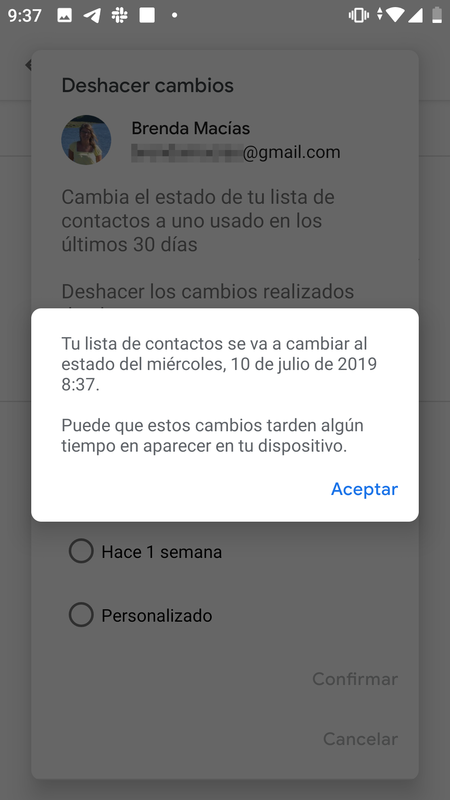 contactos android
