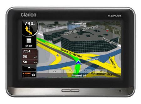 Navegadores GPS Clarion con vista realista